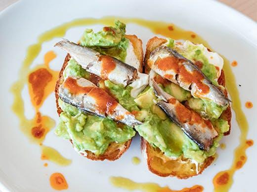 sardines and avo on toast