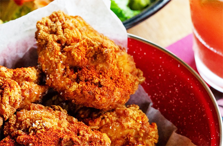 Fried chicken at Mexico