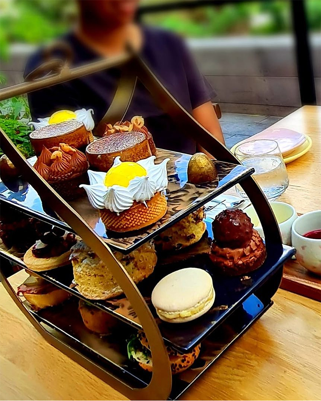 The delicious afternoon tea at Miann Chocolate Factory.