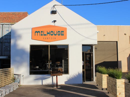 The exterior of Milhouse Canteen