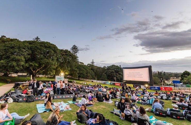 The Moonlight Cinema in Sydney in Centennial Park.