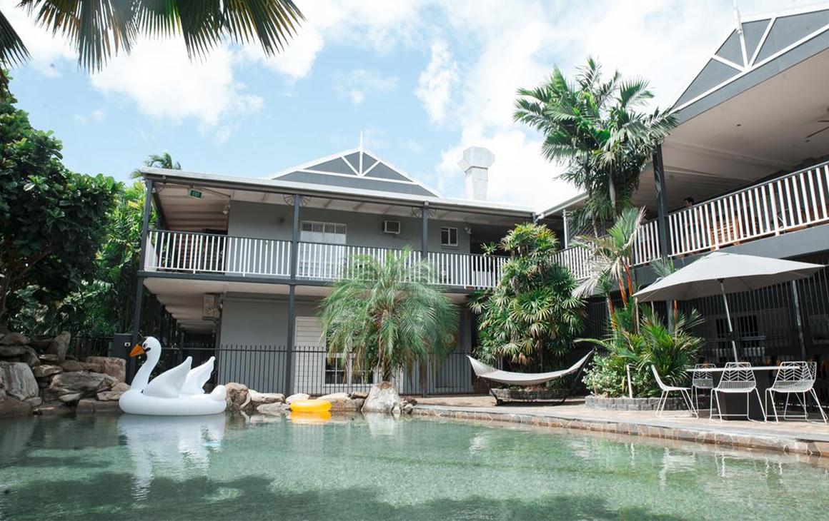 a motel pool