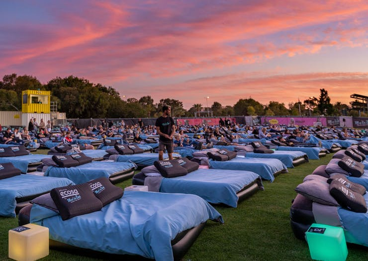 Jump Between The Sheets When Australia's Outdoor Bed Cinema Launches In St Kilda In January