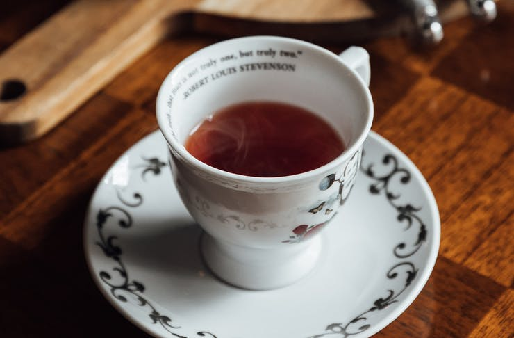 a hot cocktail in a teapot
