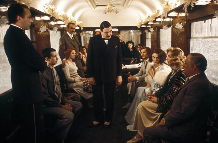 scene in a train from murder on the orient express