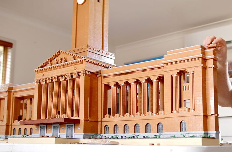 A lego version of Brisbane's city hall