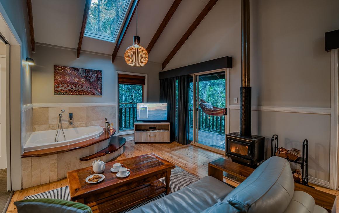 interior of a cosy cabin