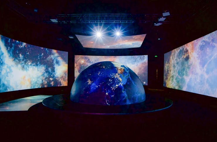 Projections of outer space at the Neighbourhood Earth exhibition