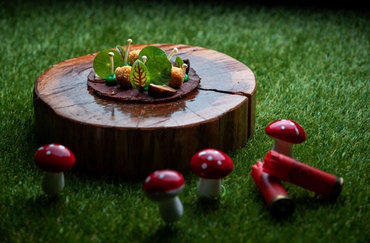 The Bambi-inspired dish from Sydney restaurant nel.'s Disney degustation.