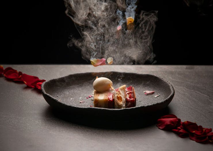 The Beauty And The Beast-inspired dish from Sydney restaurant nel.'s Disney degustation.