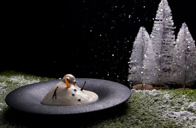 The Frozeni-inspired dish from Sydney restaurant nel.'s Disney degustation.