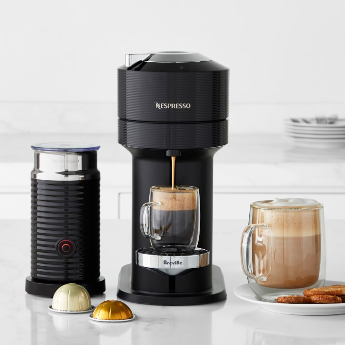 One of the best home coffee machines, a Nespresso Vertuo Next.