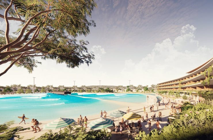 A render of the proposed new surf park in Perth