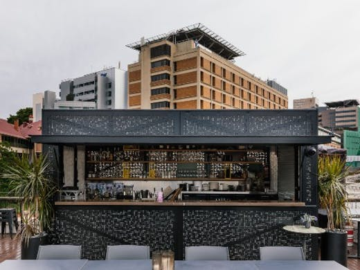 a bar on a rooftop