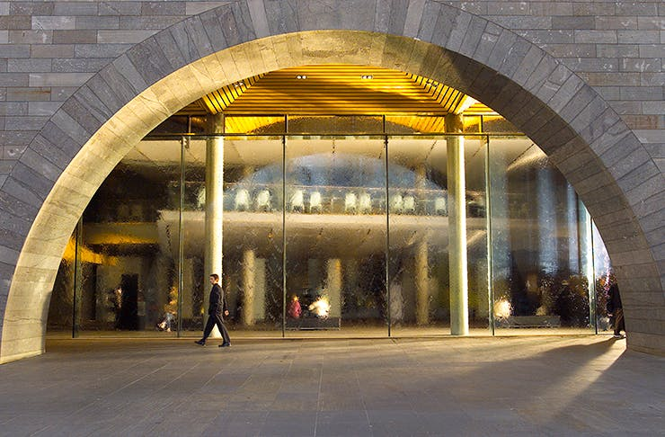 The concrete NGV arches.