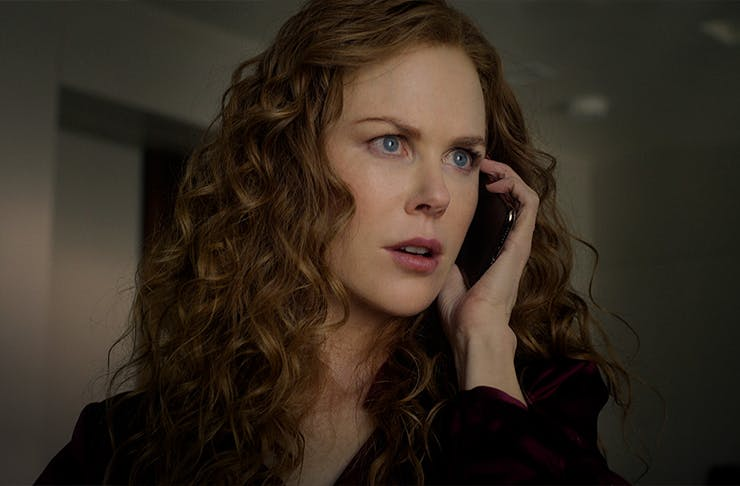 Nicole Kidman holding a phone to her ear in the series The Undoing.