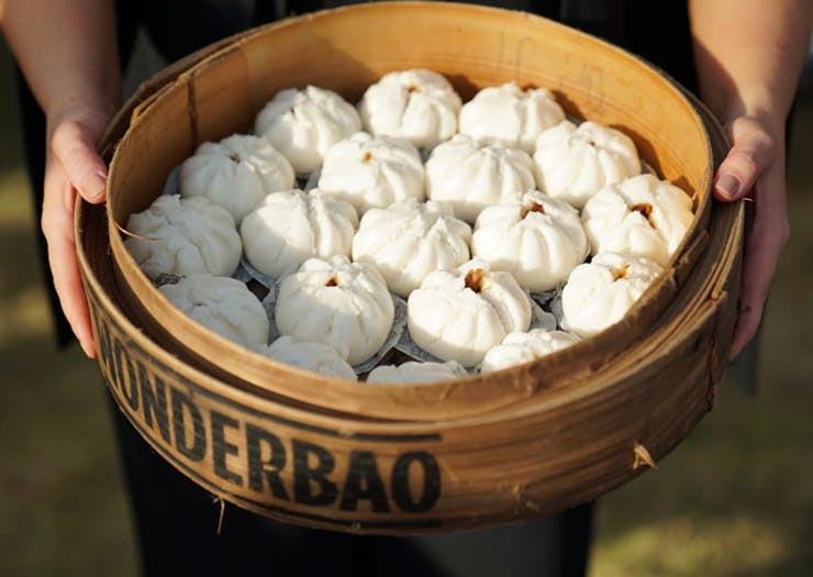 Pork Buns at the Night Noodle Markets In Sydney.