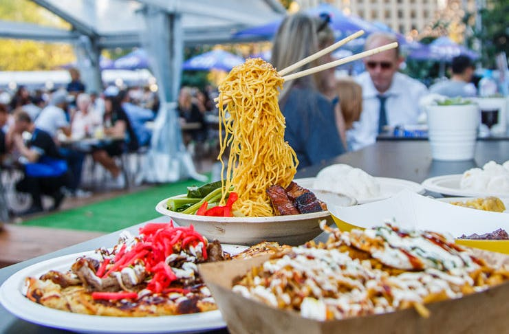 Flying Noodle at the Night Noodle Markets In Sydney.