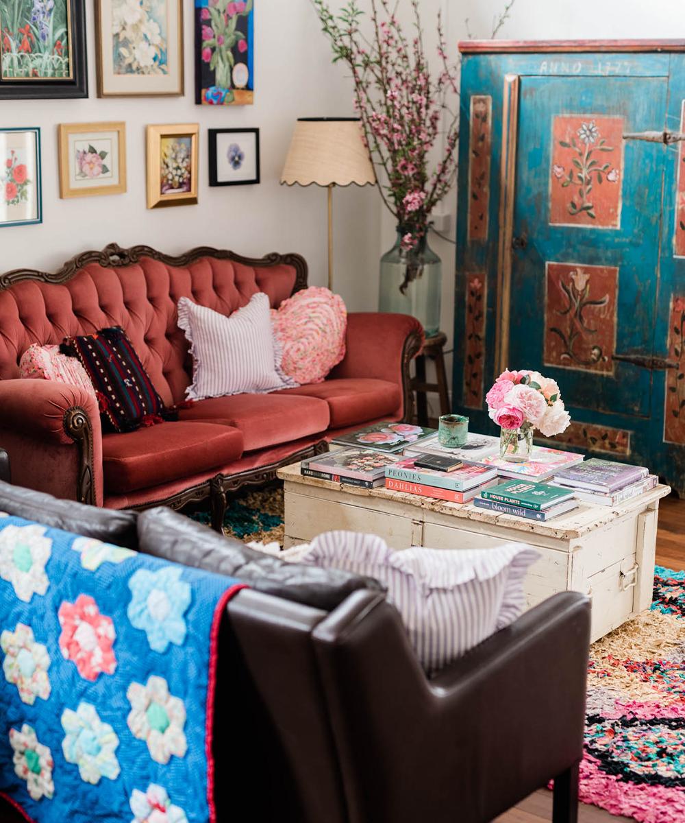 lounge full of vintage furniture