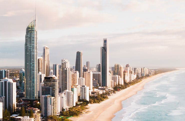 A view of Surfers Paradise in Queensland.