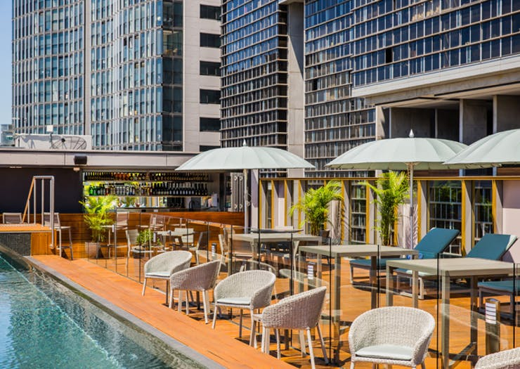 the old clare hotel rooftop bar in sydney