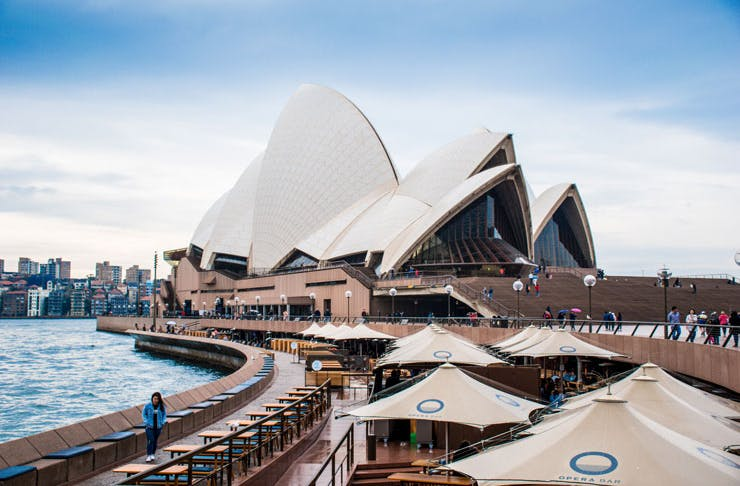 A view of the Opera Bar, at the Sydney Opera House.