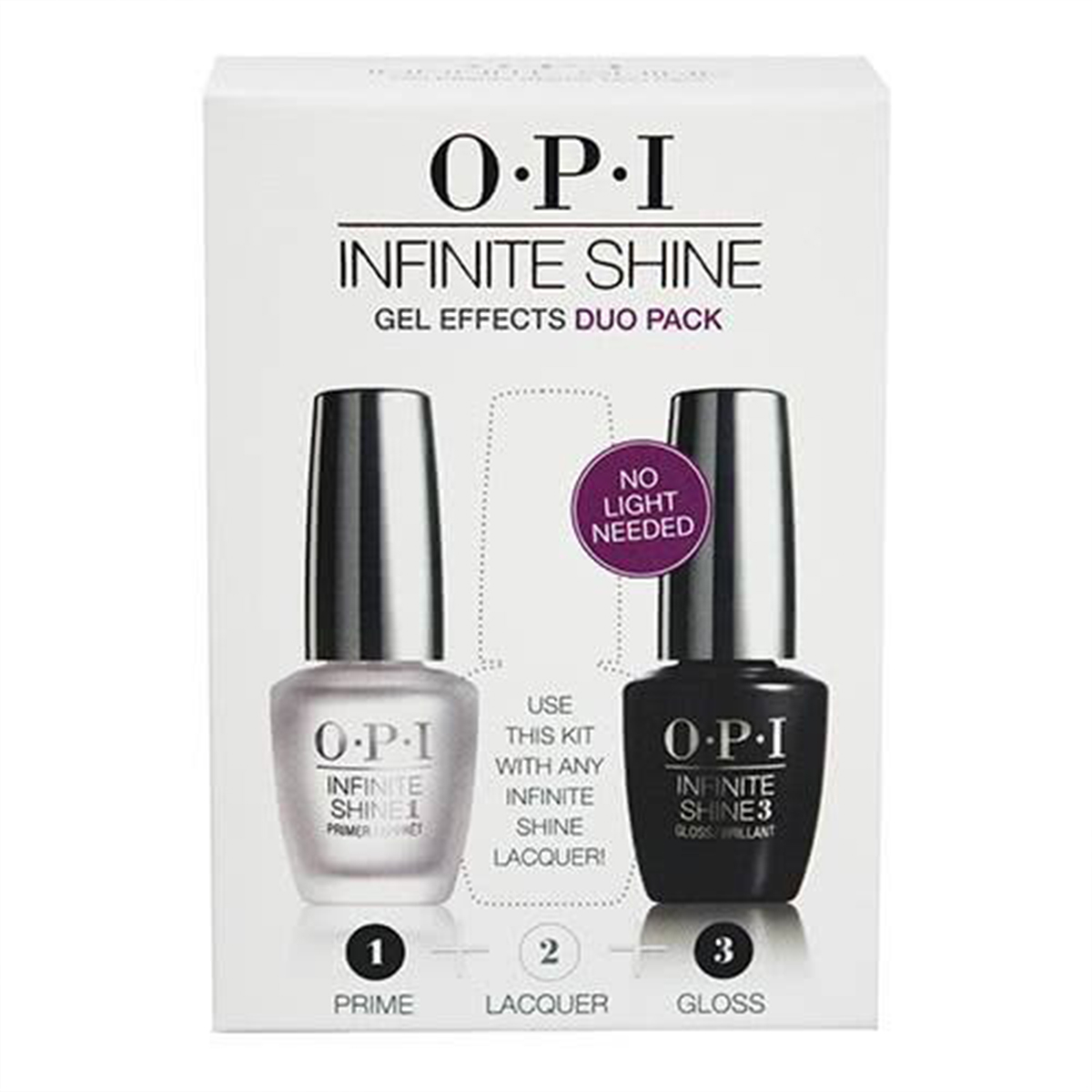 Box featuring two bottles of Opi nail polish on the front