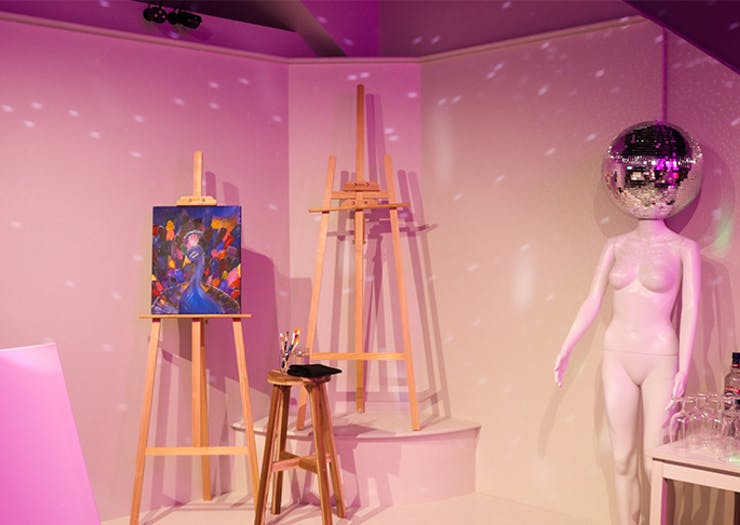 Channel Your Inner Artist At Burleigh's Psychedelic New Paint And Sip Studio