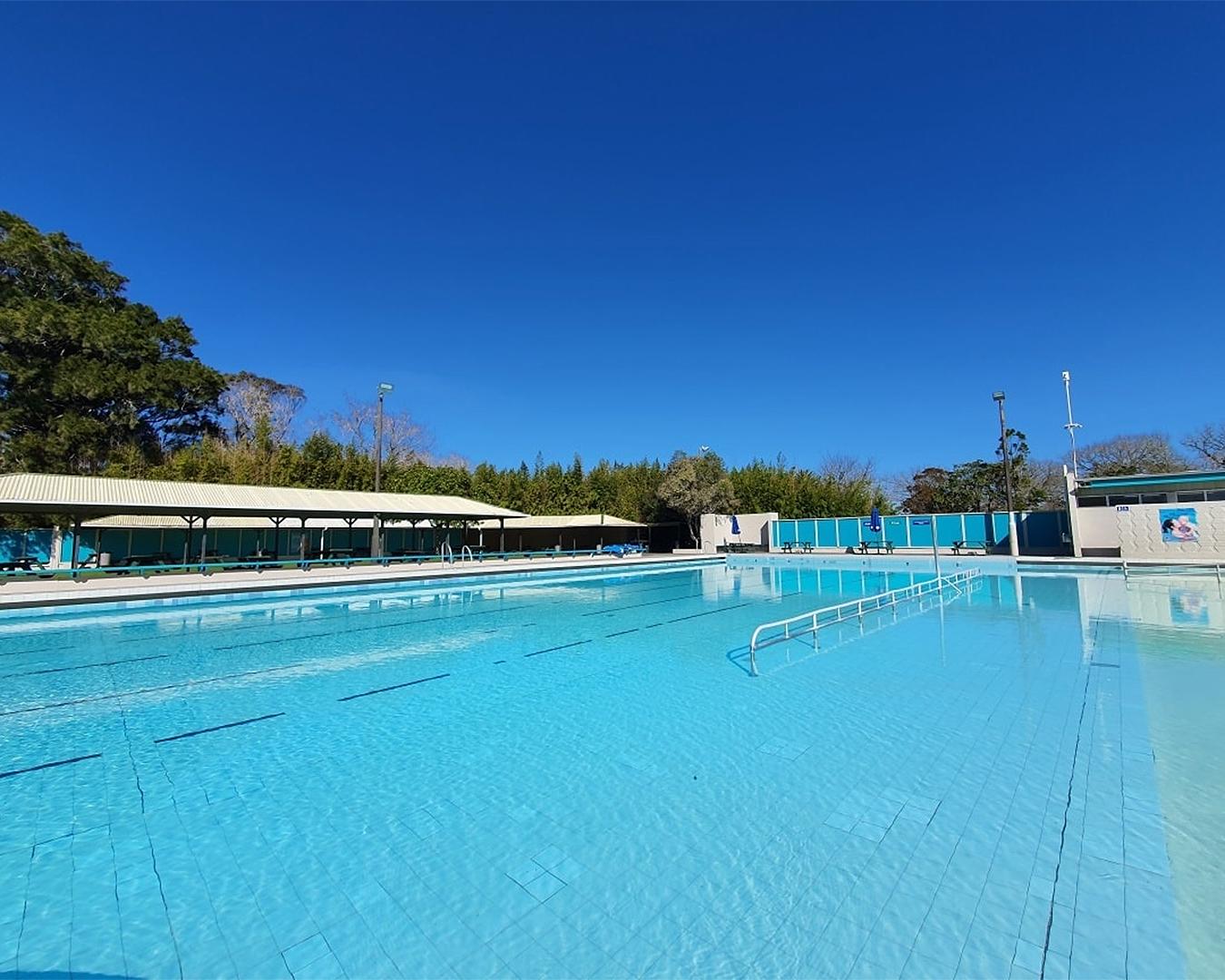 A view of the inviting pool at Parakai Springs.