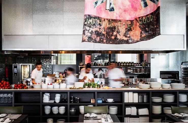 The kitchen at CicciaBella In Parramatta.