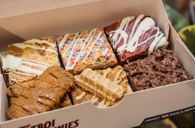 a box full of brownies