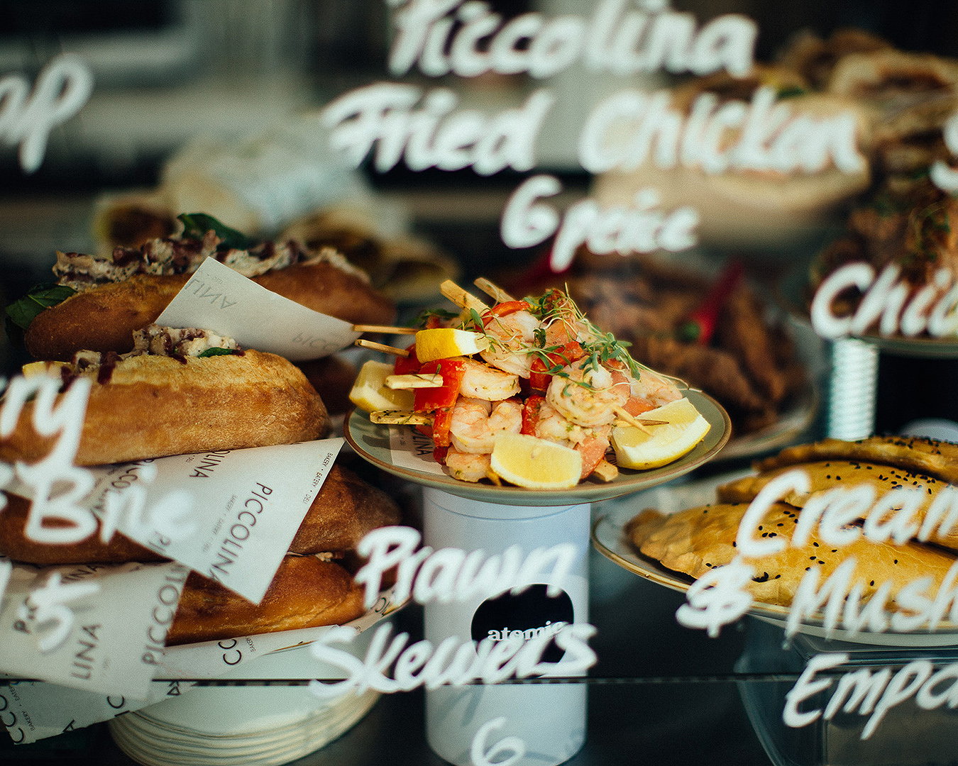 Some of the delicious cabinet food on offer at Piccolina.