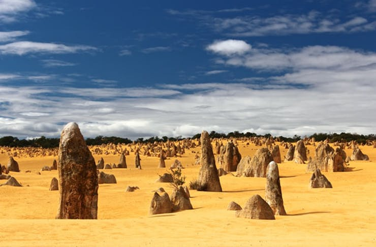 The dusty and Mars-like Nambung National Park in Western Australia.
