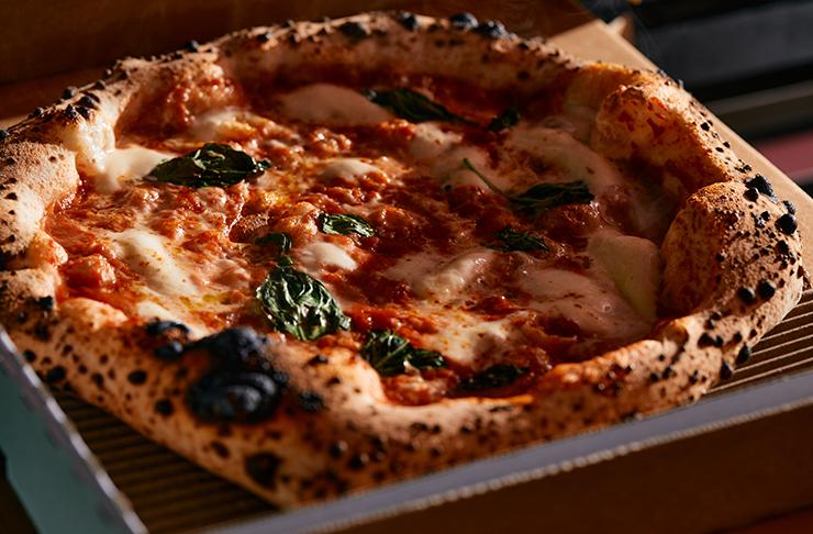 A fresh Neapolitan-style pizza.