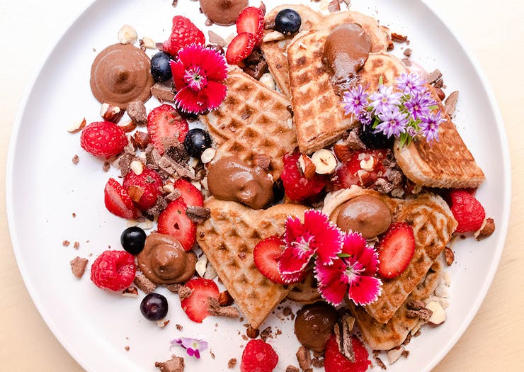 Tuck Into Plant-Based Black Forest Waffles At This Cosy New North Side Cafe
