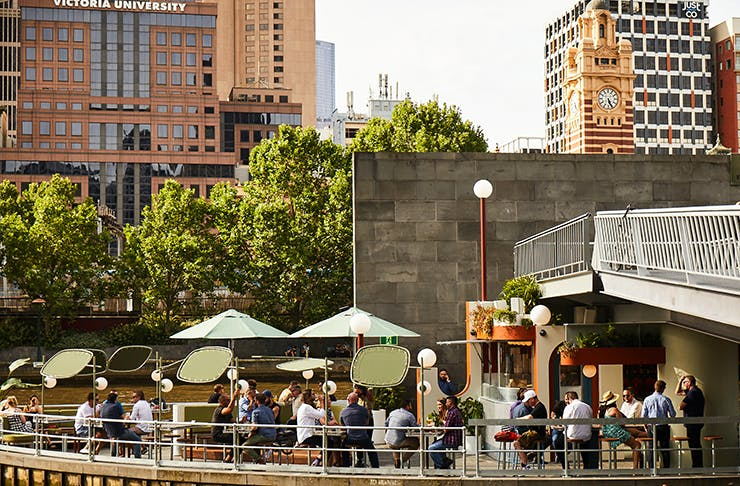 A bar on the middle of the Yarra River.