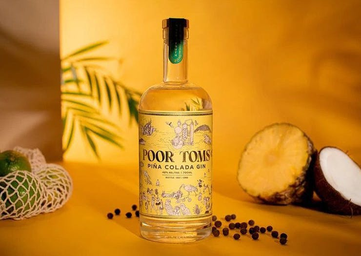 Transport Yourself To A Tropical Island With Poor Toms' New Piña Colada Gin
