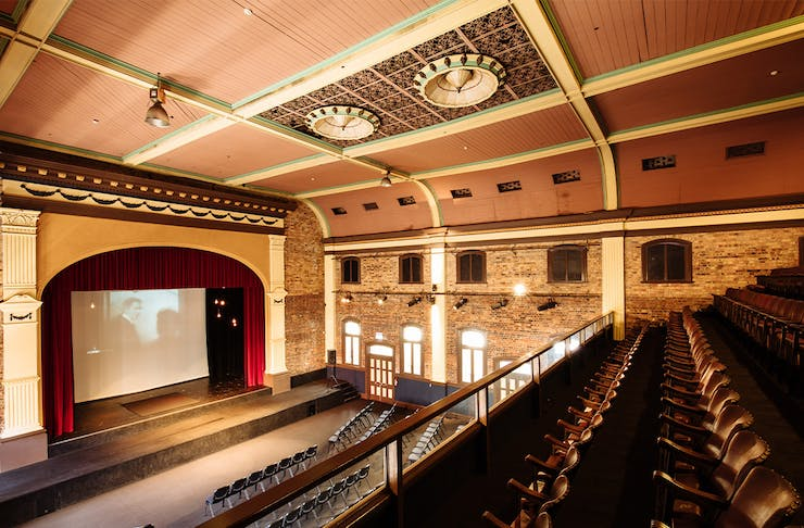 the interior of the old theatre