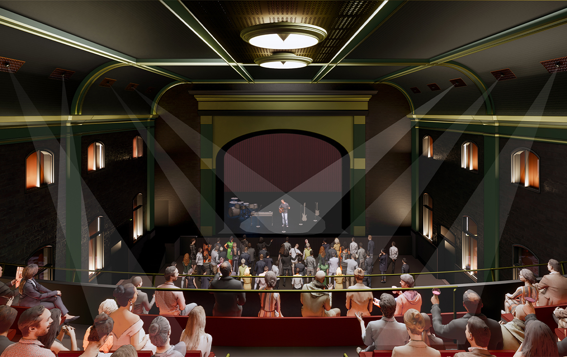 a render of the new interior or the theatre