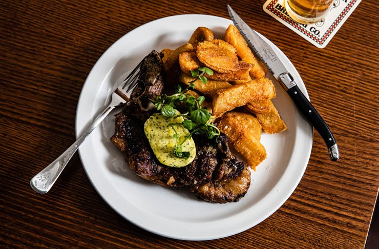 Steak and thick cut chips