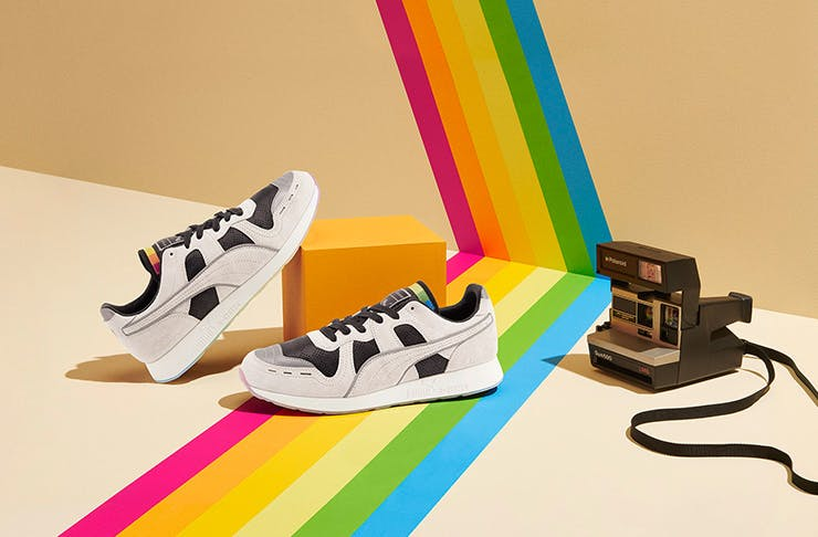 80a2efc814fd Two of our favourites are teaming up for a pretty sweet collab. PUMA and  Polaroid are set to drop their much-anticipated sneaker pack on 8 September.