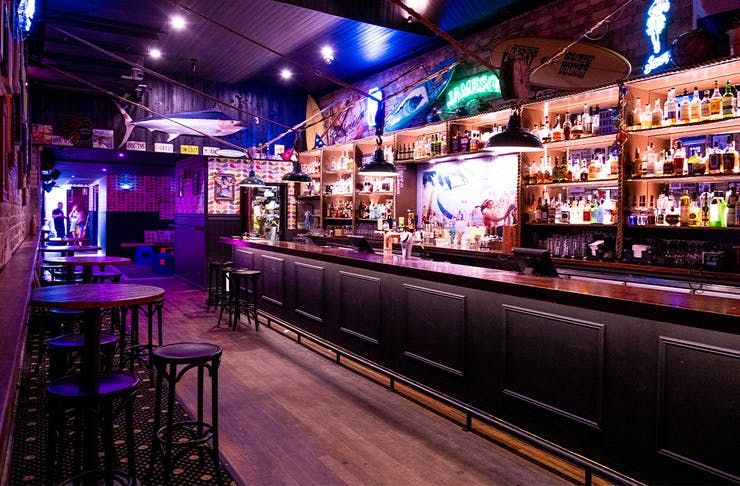 the bar inside Suzie Wongs