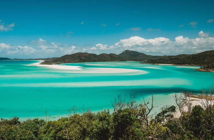 Landscape shot of the Whitsundays