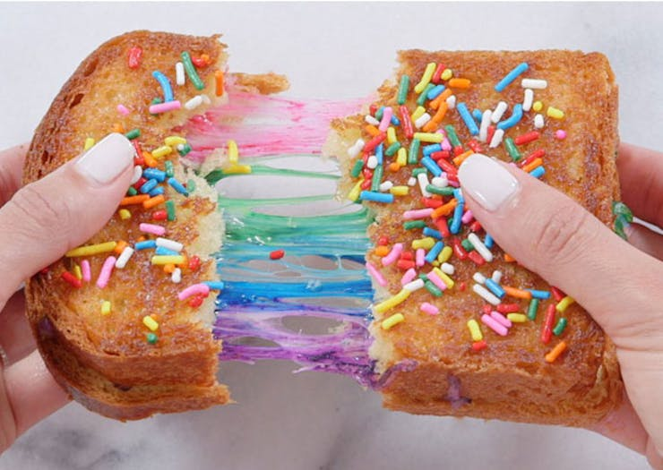 Cooked It | How To Make A Rainbow Cheese Toastie At Home