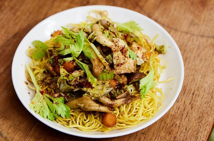 A bowl of chow mein cooked by Raph Rashid.
