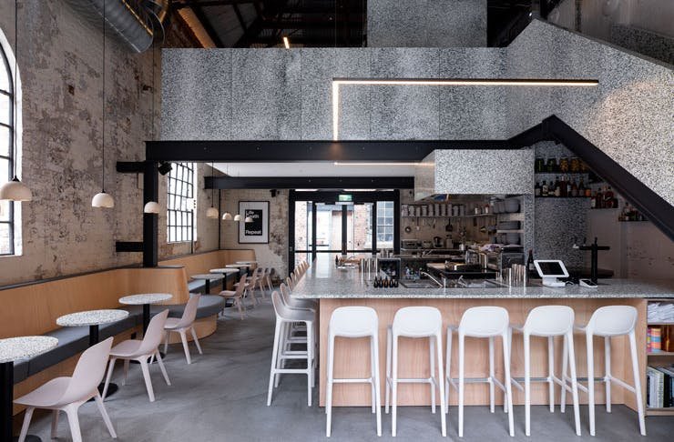 The interior of RE, the zero waste bar created by Matt Whiley.
