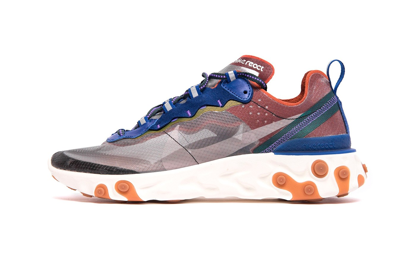 "52b00c025ea151 Nike React Element 87 ""Dusty Peach""   ""Moss"""