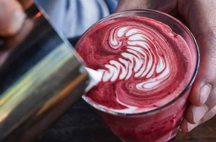 red velvet lattes cafe in sydney