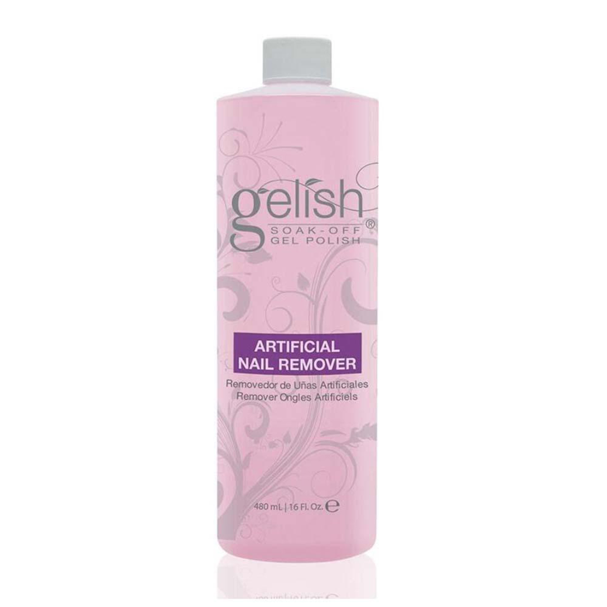 Purple bottle of Gelish Artificial Nail Remover