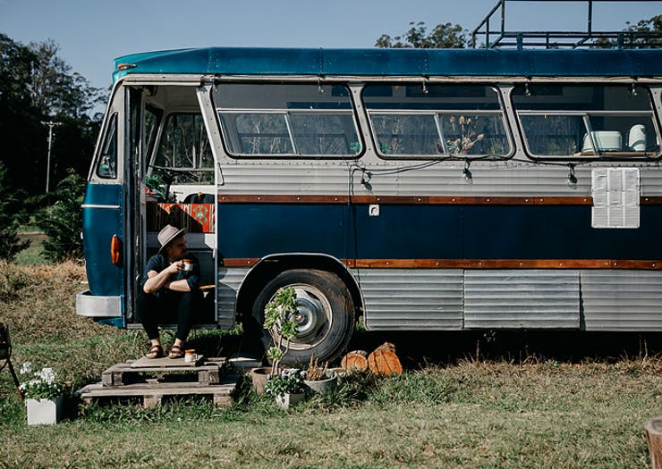 Book Your Next Weekend Escape At This Tiny House Built Into A Retro Bus